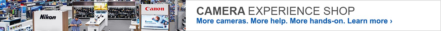 Camera Experience Shop, More Cameras, MOre Help, More Hands-on.