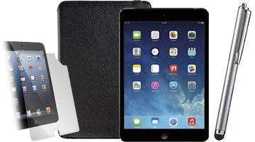 iPad mini, screen protector, case and stylus