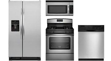 Refrigerator, range, dishwasher and microwave, Amana