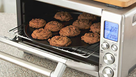 Toaster oven with food
