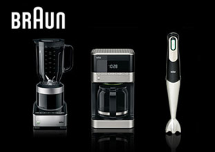 Food processor, coffee maker, hand blender