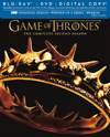 Game of Thrones: Season 2 [7 Discs] [Blu-ray/DVD] [Includes Digital Copy] (Blu-ray Disc) (Eng/Fre/Spa)