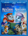 Rescuers [35th Anniversary Edition]/The Rescuers Down Under [3 Discs] [Blu-ray/DVD] (Blu-ray Disc) (Eng/Fre/Spa)