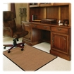 Deflect-o - Harbour Pointe Color Band Sisal Decorative Chairmat for Low-pile Carpet - Light Brown