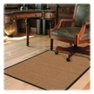 Deflect-o - Harbour Pointe Color Band Sisal Decorative Chairmat for Hard Floors - Light Brown
