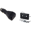 Insten - Car Cassette Adapter and Charger Bundle for iPod MP3 IPhone - Black - Black