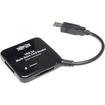 Tripp Lite - USB 3.0 Multi-Drive SD / CF/ MS Card Reader - Black - Black