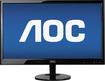 "AOC - 21.5"" Widescreen Flat-Panel USB-Powered LED Monitor - Piano Black - Piano Black"