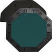 Trademark - 8-Player Octagonal Poker Tabletop - Dark Green