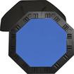 Trademark - 8-Player Octagonal Poker Tabletop - Blue