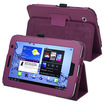 eForCity - Leather Case with Stand Compatible With Samsung Galaxy Tab 2 7.0-inch P3100/P3110/P3113 - Purple