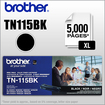 Brother - Tn115Bk 5000 Pages High Yield Black Toner Cartridge For Brother Mfc-9440Cn, Dcp-9040Cn,.. Printers - Black