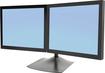 Ergotron - DS100 Dual-Monitor Desk Stand - Black