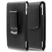 eForCity - Leather Case Cover w/Magnetic Flap for HTC Incredible S / LG Optimus Zone 2 / Nokia Lumia 710 / Samsung Galaxy Attain 4G - Black