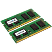 Crucial - 16GB Kit (8GBx2), 204-Pin SODIMM, DDR3 PC3-12800 Memory Module - Multi