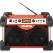 Sangean - Deluxe Worksite AM/FM Utility Radio - Red