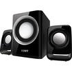 Coby - 2.1 50 W Home Audio Speaker System - Black