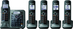 Panasonic - Link-to-cell Bluetooth Cellular Convergence Solution with 5 Handsets - Metallic Gray