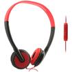 Wireless Xcessories - UMA Lightweight 3.5mm Stereo Headphones/Red - Black, Red - Black, Red