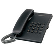 Panasonic - KX-TS500B Basic Telephone - Black