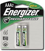 Energizer - NiMH Rechargeable Batteries AAA (2-pack)