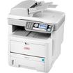 Oki - LED Multifunction Printer - Monochrome - Plain Paper Print - Desktop - White