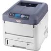 Oki - LED Printer - Color - 1200 x 600 dpi Print - Plain Paper Print - Desktop - White