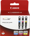 Canon - Computer Systems 4546B007 Cli226Bk-C-M-Y With Paper Combo - Black