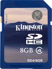 Kingston - 8 GB Secure Digital High Capacity (SDHC) - 1 Card - Blue