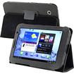 eForCity - Leather Case Compatible With Samsung© Galaxy Tab 2 7.0/ P3100/ P3110 - Black