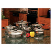 B&F System - Wyndham House By Justin Wilson 12pc Stainless Steel Cookware Set - Mirror - Mirror