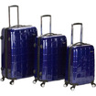 Fox - Three Piece Polycarbonate ABS Luggage Set F129 - Purple