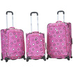 Fox - Fusion Three Piece Luggage Set F180 - Pearl Pink