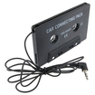eForCity - Car Audio Cassette Adapter For iPhone 5 / 5S / 5C - Black - Black