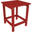 Poly-Wood - Long Island End Table - Square Table Top with 4 Legs - Red - Red