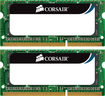 Corsair - 2-Pack 4GB 1.0GHz DDR3 SoDIMM Laptop Memory Kit