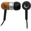 Woodees - IESW100B Wood Mic Remote iPhone Earbuds Earphones Headphones