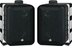 BIC America - 3-Way Indoor/Outdoor Speakers (Pair) - Black