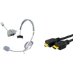 eForCity - 6Ft Thick HDMI Cable M/M and Live Game Headset w/mic Bundle for Xbox 360