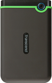 Transcend - StoreJet Rugged Series 25M3 1TB External USB 3.0/2.0 Portable Hard Drive - Gray/Green