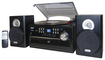 Jensen - 4W CD Stereo System with Cassette, Turntable and AM/FM Radio - Black
