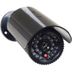 VideoSecu - Dummy Fake IR LEDs Flashing Light Security Camera Surveillance w/ Free Decal 1PX - Silver - Silver