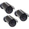 VideoSecu - 3 Packs Dummy Bullet Fake IR LED Flashing Light Security Surveillance Camera C94 - Silver