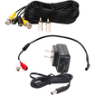 VideoSecu - Microphone Kit for Security Audio Sound Voice Monitor Recording with Cable & Power 1UB