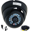 VideoSecu - Infrared Night Vision Weatherproof Security Camera 1/3'' CCD - Color w/ Power & Cable CF8 - Black