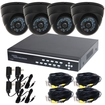 VideoSecu - 4CH Digital Video Recorder with 2TB Hard Drive and 4 CCD IR Night Vision Security Cameras CA4