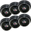 VideoSecu - CCTV 6 Packs of Fake / Dummy Surveillance Camera with Blinking Flash LED BKM - Black - Black