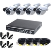 """VideoSecu - 4CH Network Digital Video Recorder and 4 Outdoor 1/4"""" CCD IR Camera DVR 2000GB Security System WE1"""
