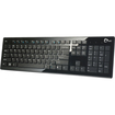 SIIG - USB Compact Low Profile Multimedia Keyboard - Black - Black