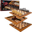 Trademark - Deluxe Wooden Chess, Backgammon and Checker Set